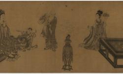 Сун. Лю Суннянь. «Архат». Свиток на шелку. Из собраний Тайбэйского Музея Гугун