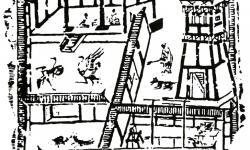 Устройство ханьской усадьбы, изображенное на каменном барельефе, обнаруженном в районе Чэнду.