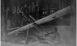 Китайские плотники за работой. Фотография конца 19 века.