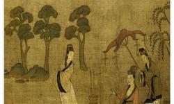 Тан. Янь Либэнь. «Императоры прошлых династий». Фрагмент. Свиток на шелку. Из собраний Бостонского Музея изобразительных искусств.